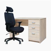 1-escritorio-mel-cajonera-pedestal-120x60-rovere--1-silla-marsella-con-cabeza-ziyaz