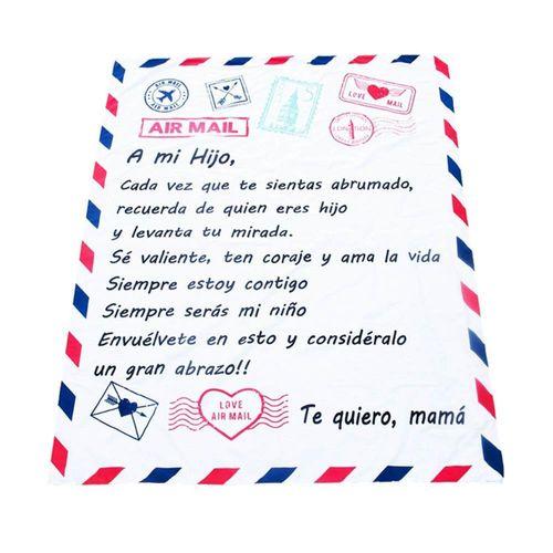manta-micropolar-postal-dedicatoria-abrazo-de-mama-a-hijo-alegria-juguetes