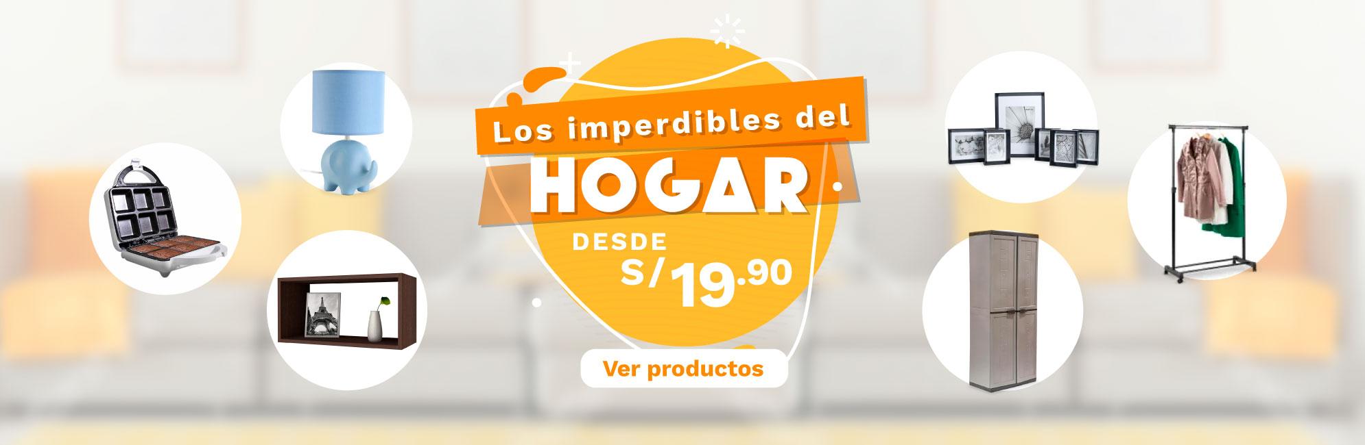 Banner Los Esenciales del Hogar desde S/ 19.90 Desktop