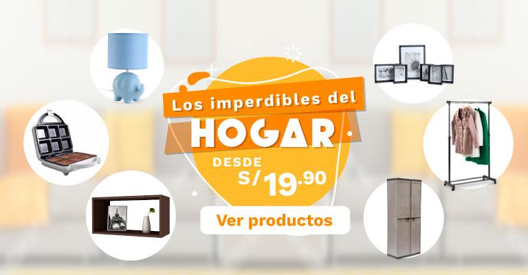 Banner Los Esenciales del Hogar desde S/ 19.90 Mobile