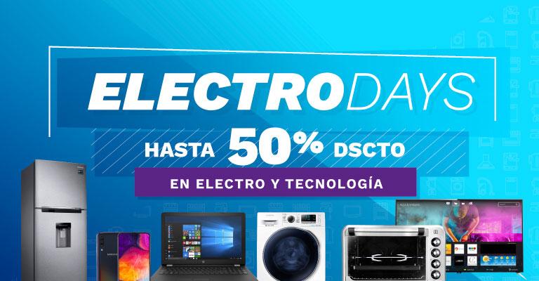 Banner ¡Hasta 40% de dscto en Electro y Tecnología! Mobile