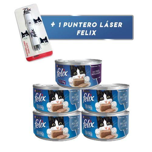 pack-x-4-latas-de-felix-adulto-pate-pescado-y-atun-1-lata-pate-pavo-y-menudencias-156gr-1-laser-gratis-hello